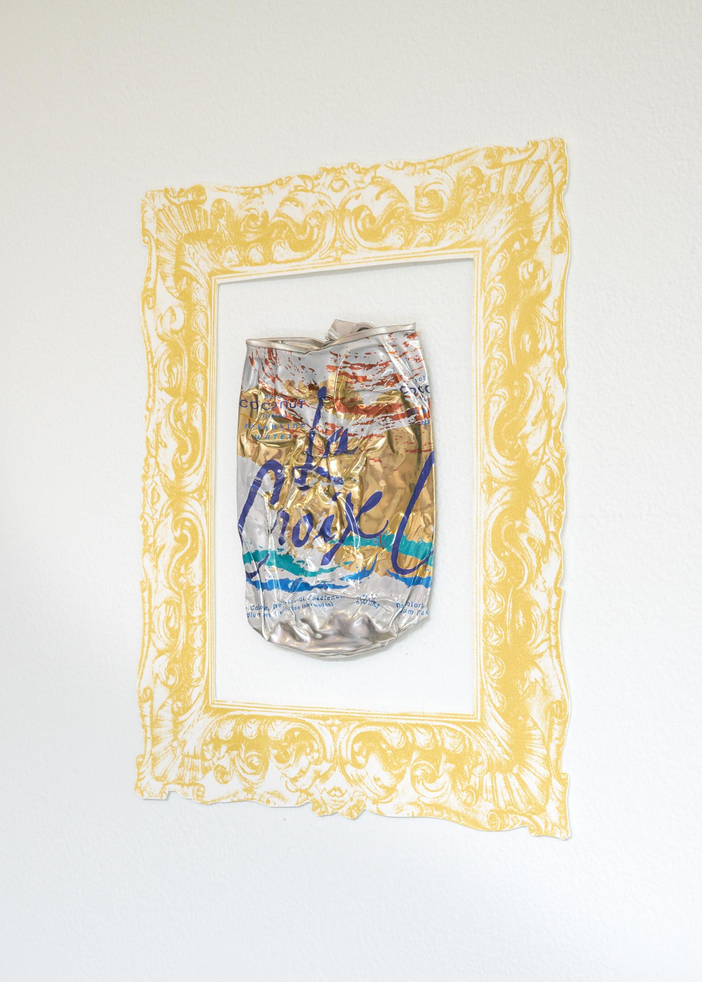 Framed La Croix can detail