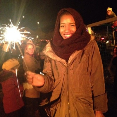 At a New Year's Eve Bonfire (2013)