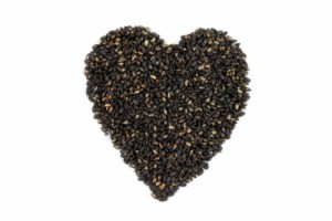 black sesame hearts