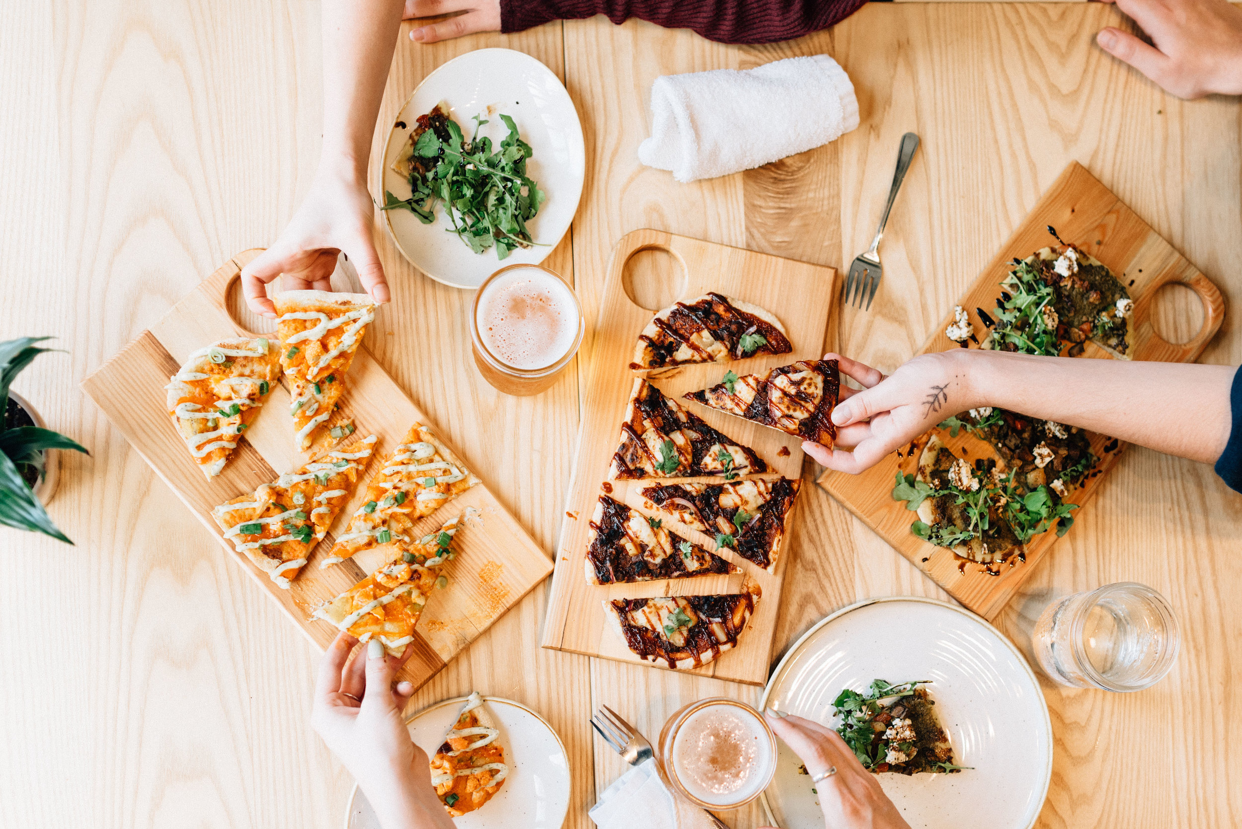 Happy Hour Drinks, Vegan Flatbreads at Kind Cafe, Vancouver, Main Street