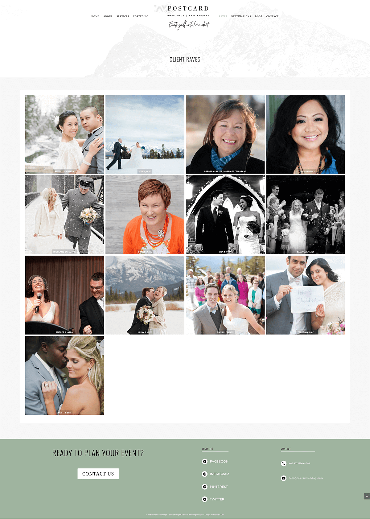 testimonials-page-Postcard Weddings-website-design