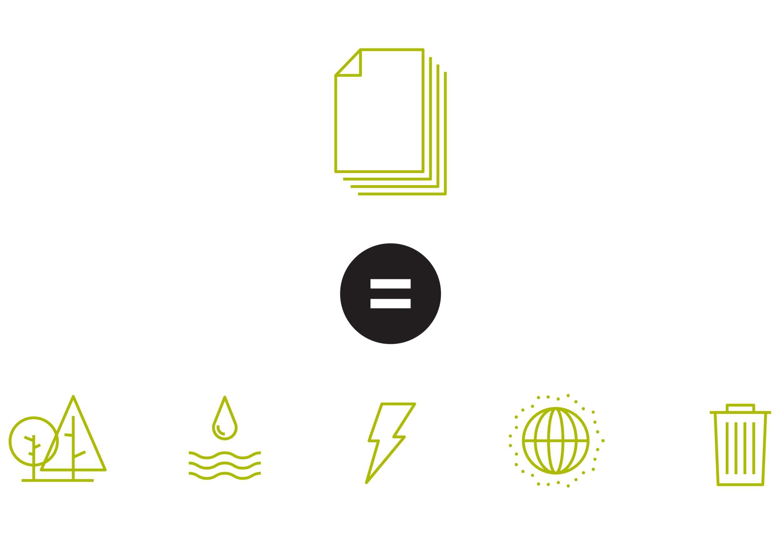 Wood. Energy. Greenhouse Gases. Water. Solid Waste. - Calculate your savings from using New Leaf Paper.