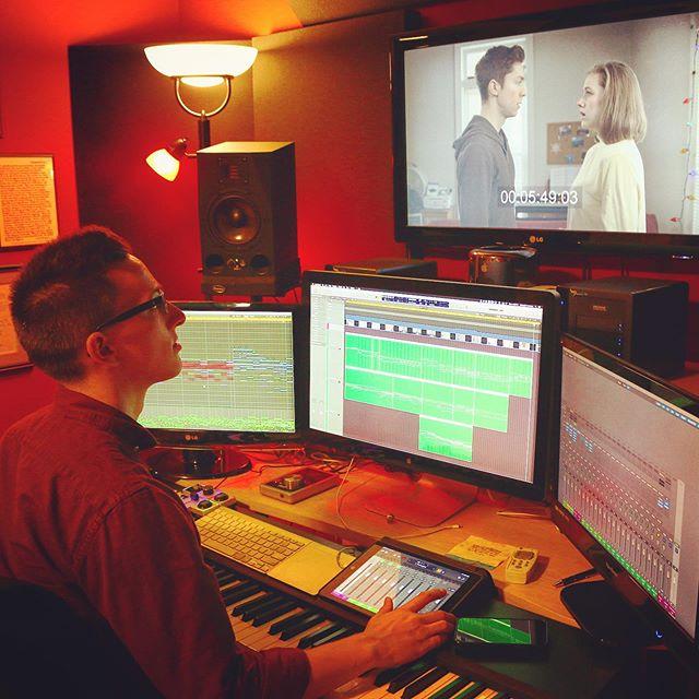 "Scoring ""Connected"" by @joshpitta - 👫🎬🎹 . 🎼 . #filmcomposer #filmscoring #musicforfilm #musicstudio #studiosetup #soundtrack #score #romance #shortfilm #composer #bts #grind #music #musicismylife #composingmusic #musicman #musictime #musicblog #soundcloud #hustle #musicislife #screens #logicprox #kontakt #macpro #instamusic #composer #composerlife #ipad #akai"