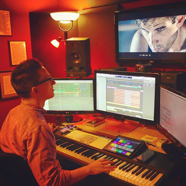 "Scoring ""The New Rocky"" by @cristinapiemonte - 🥊 🎬🎹 . 🎼 . #filmcomposer #filmscoring #musicforfilm #musicstudio #studiosetup #soundtrack #score #sports #commercial #composer #bts #grind #music #musicismylife #composingmusic #musicman #musictime #musicblog #soundcloud #hustle #musicislife #screens #logicprox #kontakt #macpro #instamusic #composer #composerlife #ipad #akai"