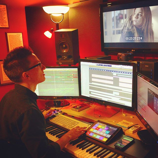 "Scoring ""Property"" by @jaddisonfilms & @ltblproductions - 🎬🎹 . 🎼 . #filmcomposer #filmscoring #musicforfilm #musicstudio #studiosetup #soundtrack #score #drama #shortfilm #composer #bts #grind #music #musicismylife #composingmusic #musicman #musictime #musicblog #soundcloud #hustle #musicislife #screens #logicprox #kontakt #macpro #instamusic #composer #composerlife #ipad #akai"