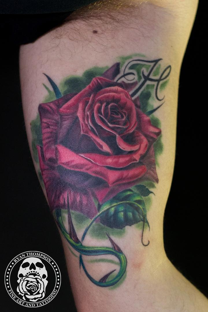 Glen's Rose Tattoo