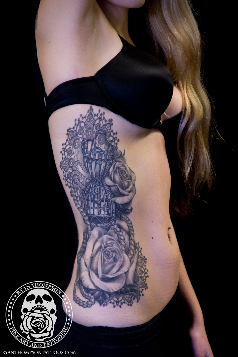Stephanie's Dressform and Roses