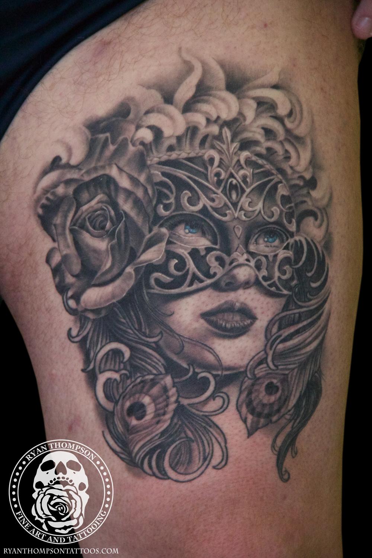 Chris's Venetian Mask Girl
