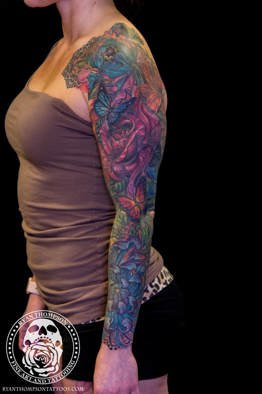 Nikki's Flower Sleeve Cover-Up