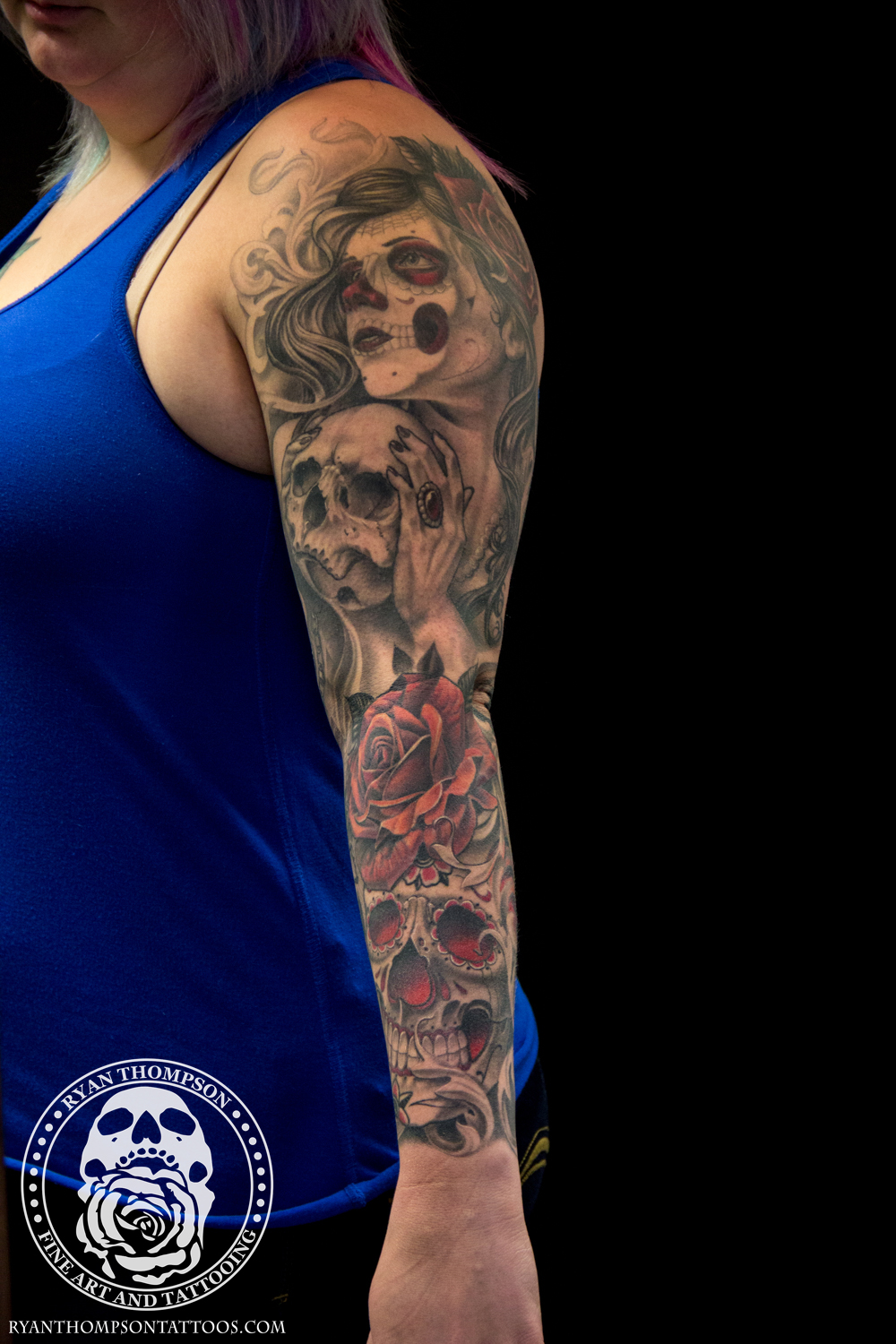 Brittany's Day of the Dead Sleeve