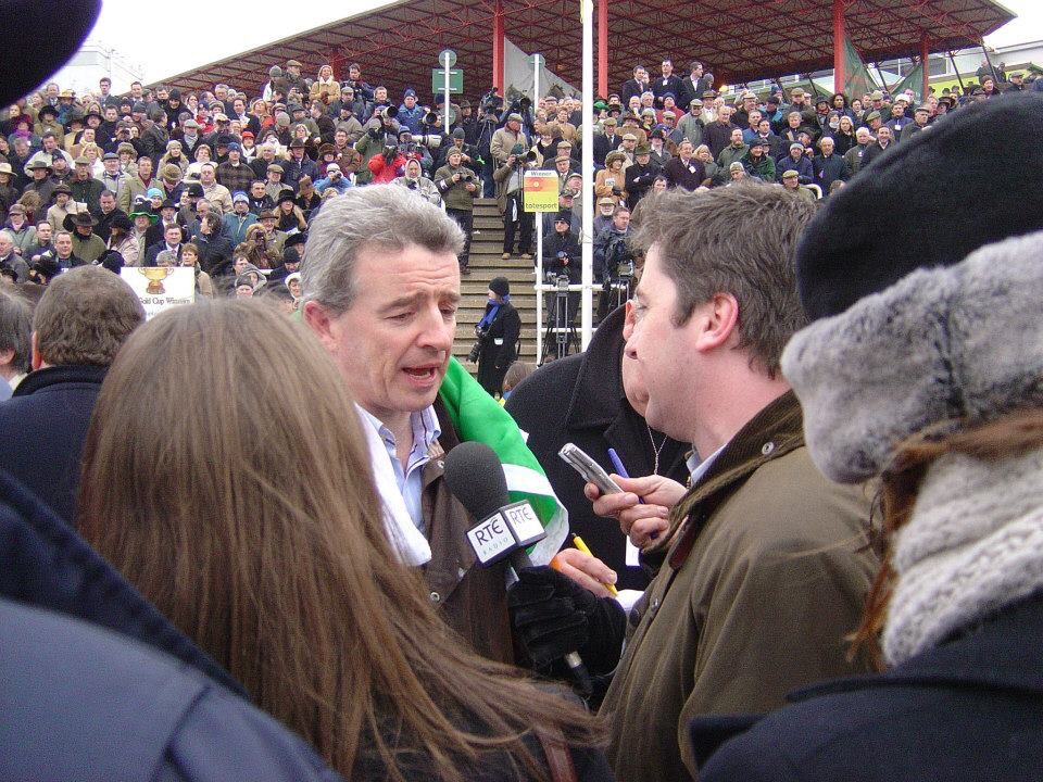 Winner's Enclosure, Cheltenham, 2006 with Michael O'Leary owner of War of Attrition