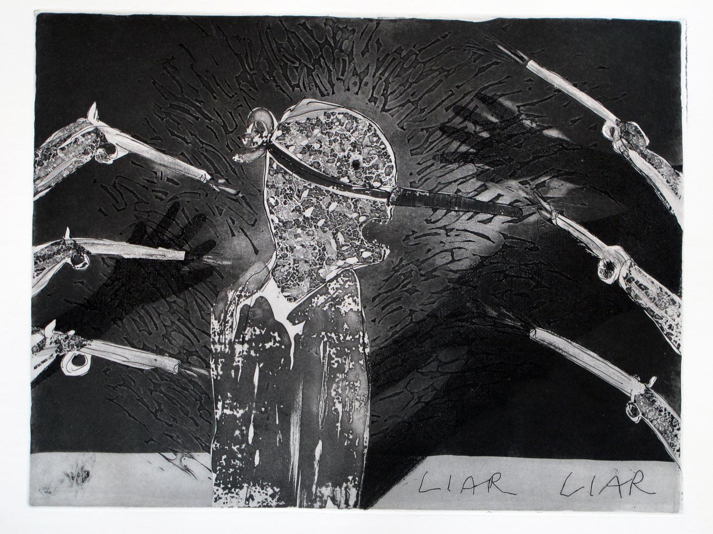 Liar Liar II, 26 x 20, etching