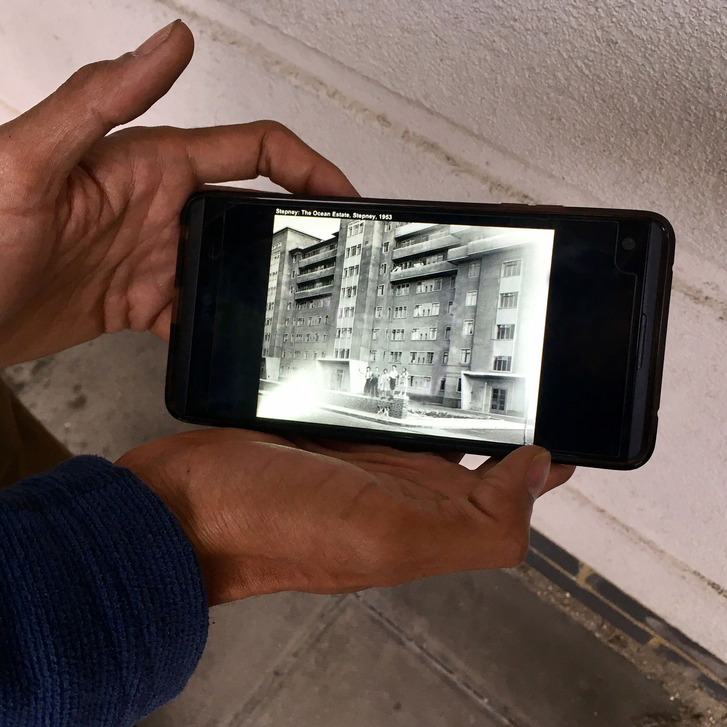 AK Shows Image of Bengal House, photo composed by AK