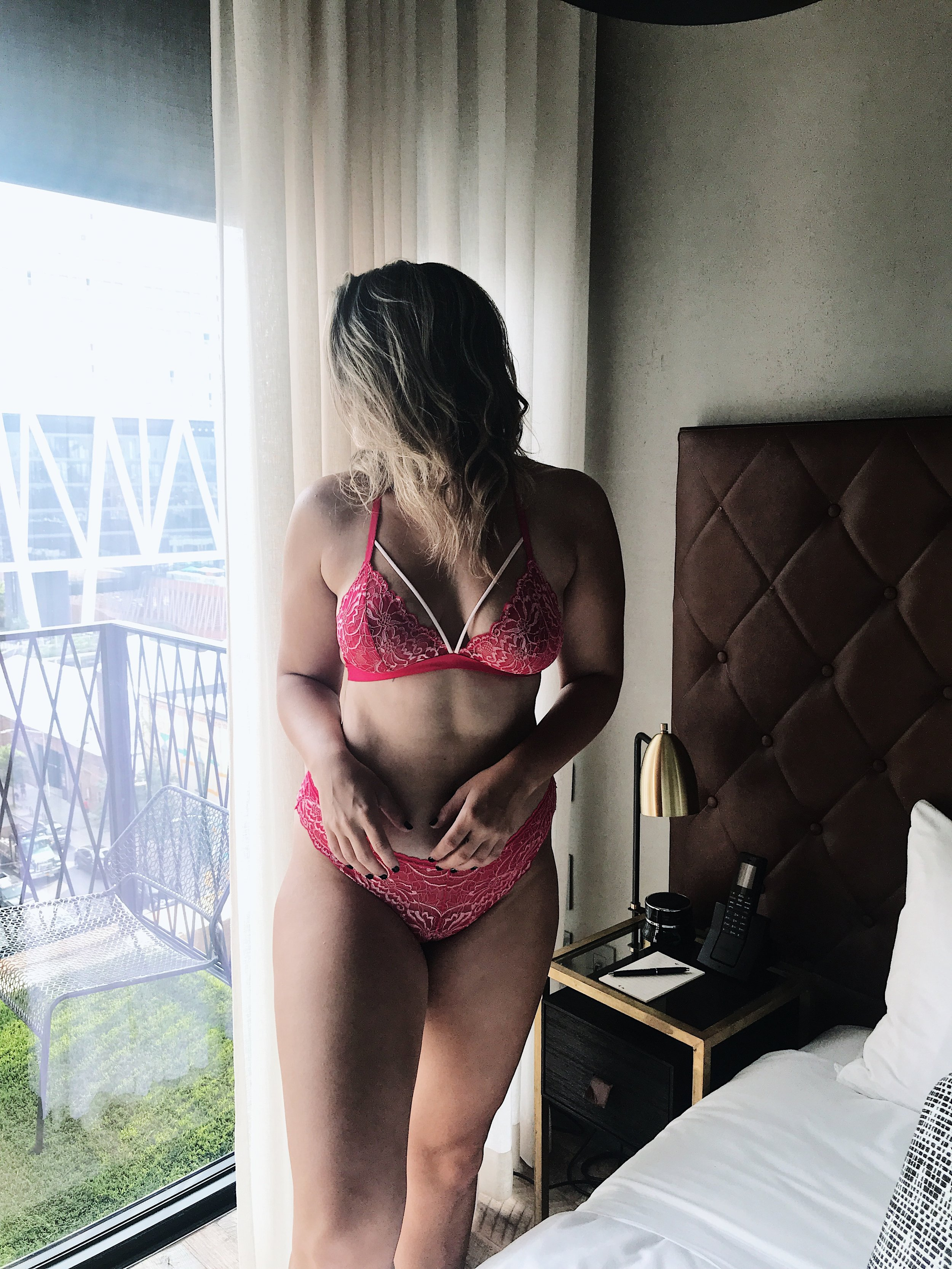 Pink Lace Strappy Bralette from Fleur't Intimates.JPG