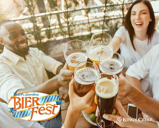 Have you heard about Bier Fest at Busch Gardens? Get all the deets here, including how to get discounted tickets. #kingscreek #williamsburg #virginia #family #vacation #summer #buschgardens #bierfest #beer #hellofall #livemusic #food