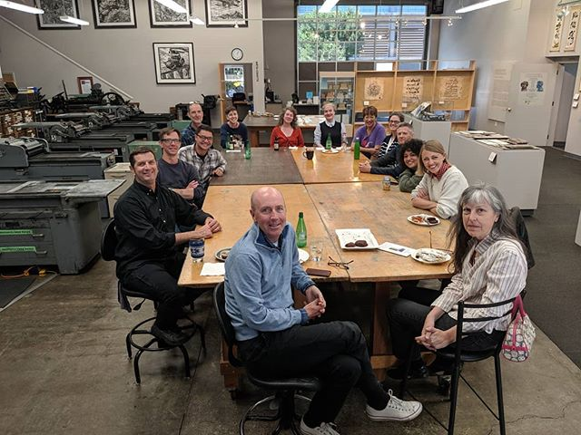 We had a great time visiting the Center for the Book on Friday! Arion Press x SFCB  @sanfranciscocenterforthebook #books #bookbinding #letterpress #letterpressprinters #letterpresssanfrancisco #bookarts #finepress #sanfranciscotype #sanfranciscoprinting #sanfranciscoprinters #bayareaprint #bayareabooks #bookstagram #bookarts #bookcommunity #bookworm