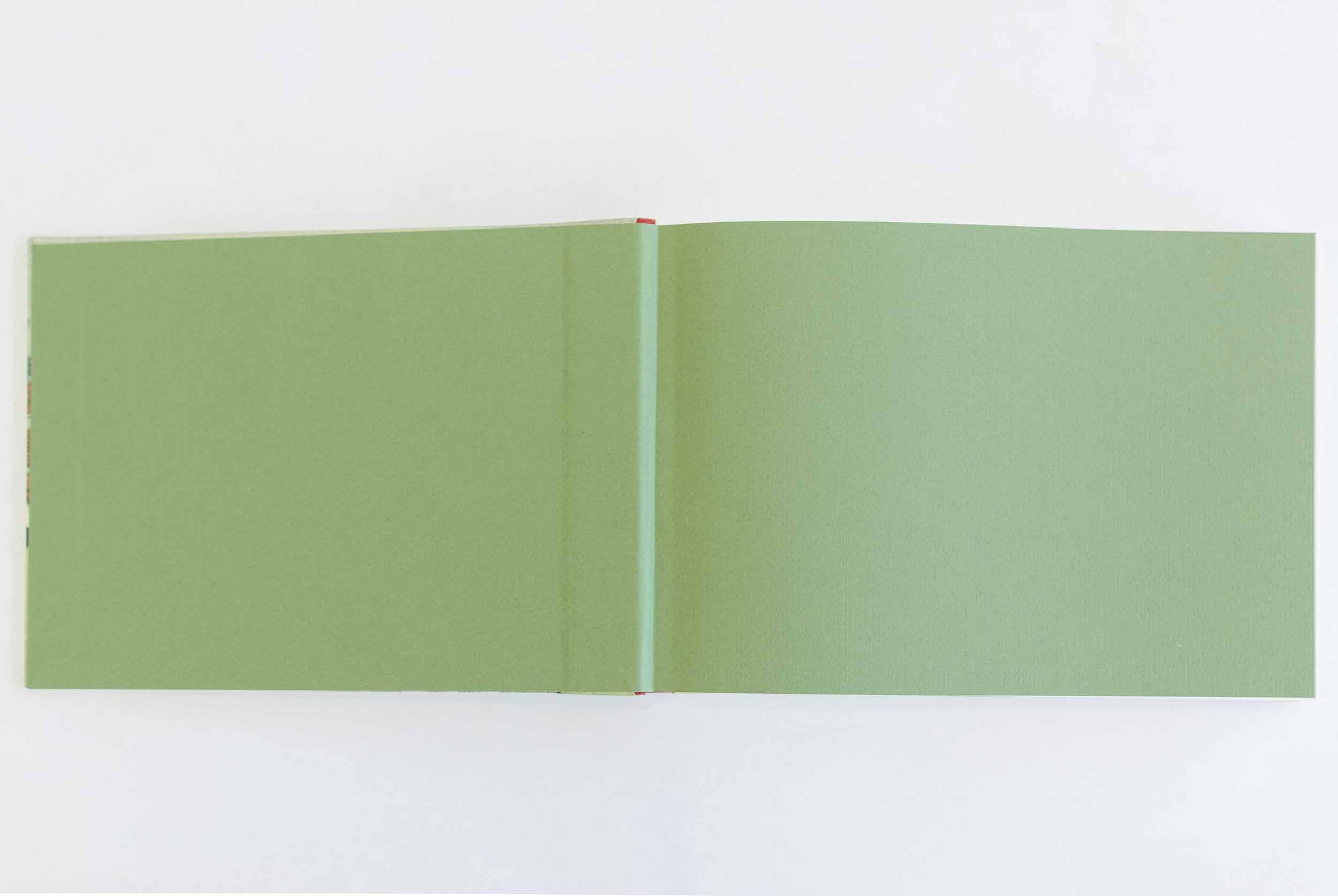 Sketchbook format, design 1 (Chinese lion), end sheets