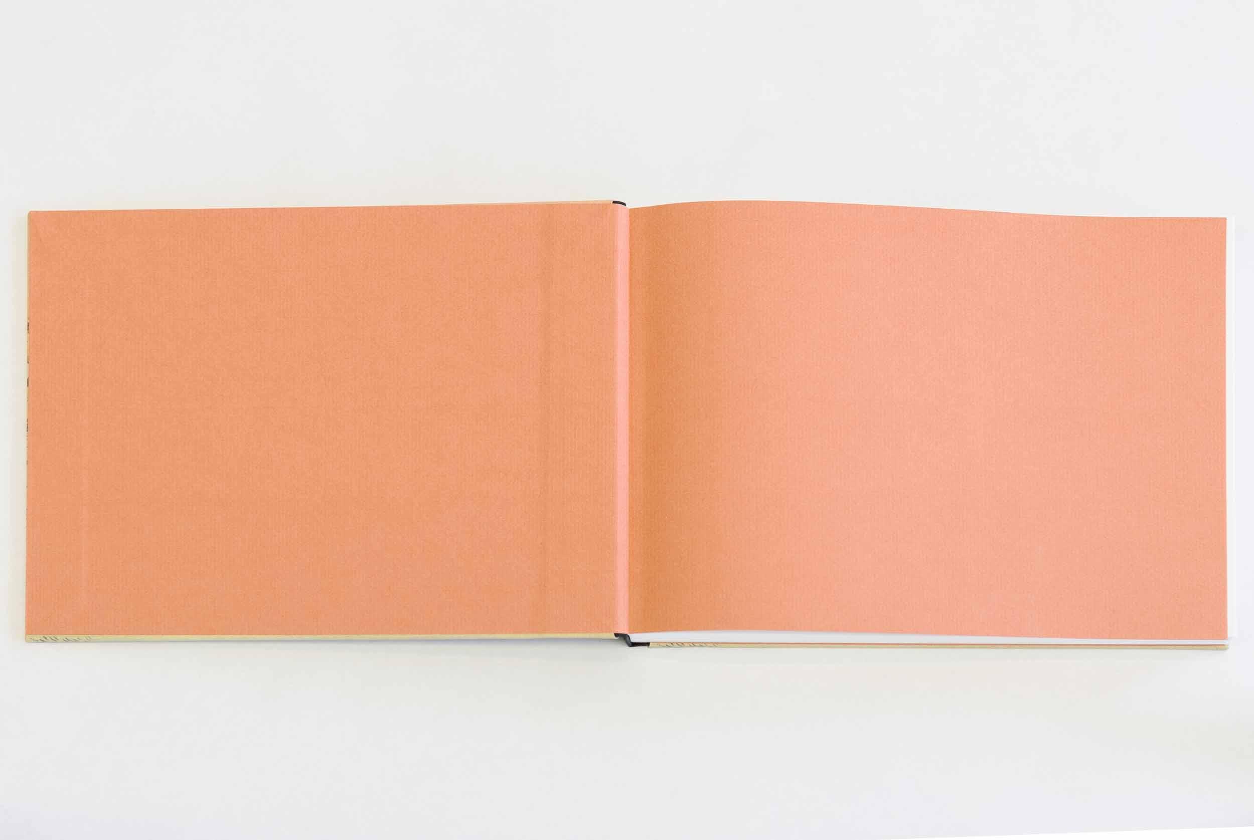 Sketchbook format, design 2 (Girl by the brook), end sheets
