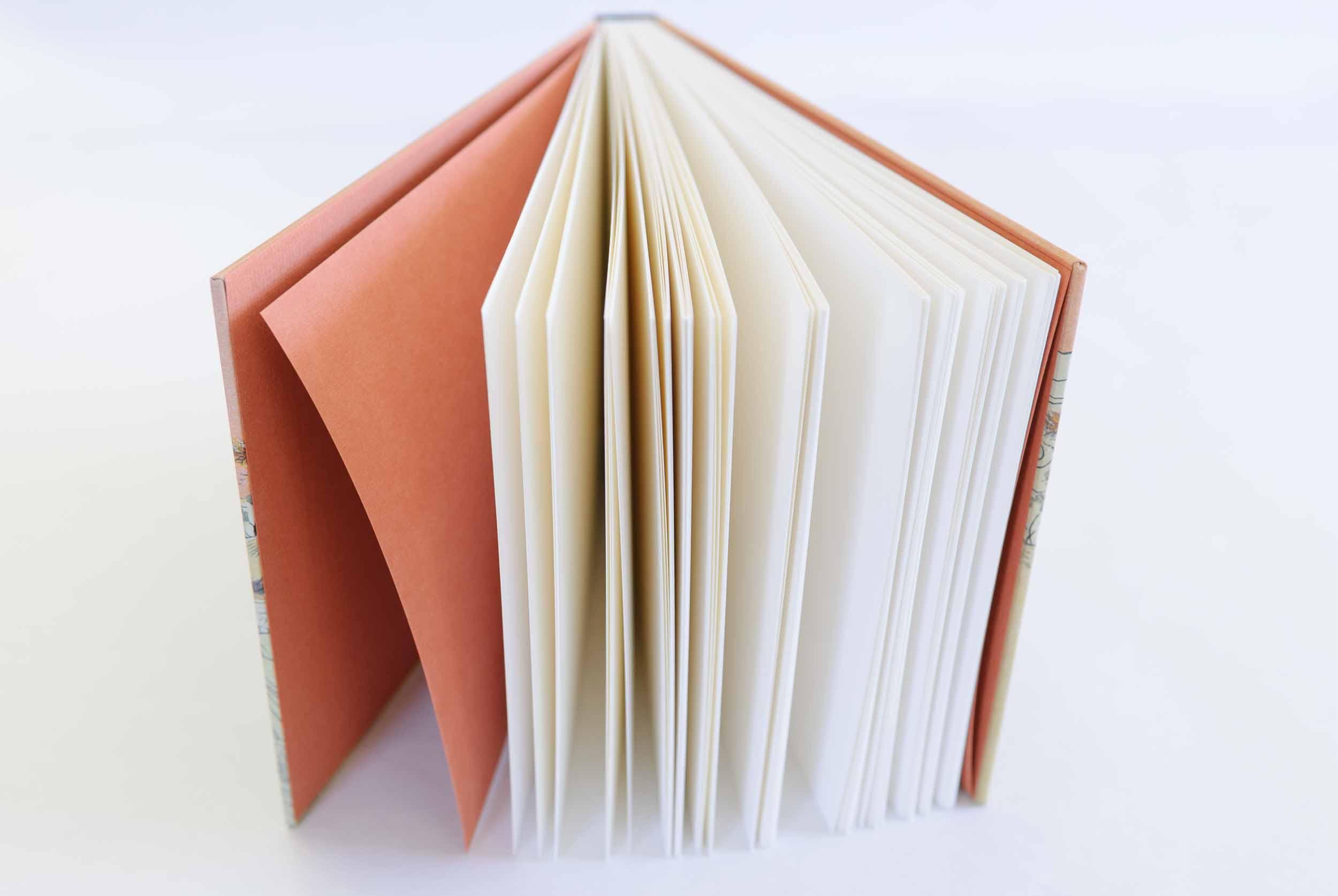 Sketchbook format, design 2 (Girl by the brook)