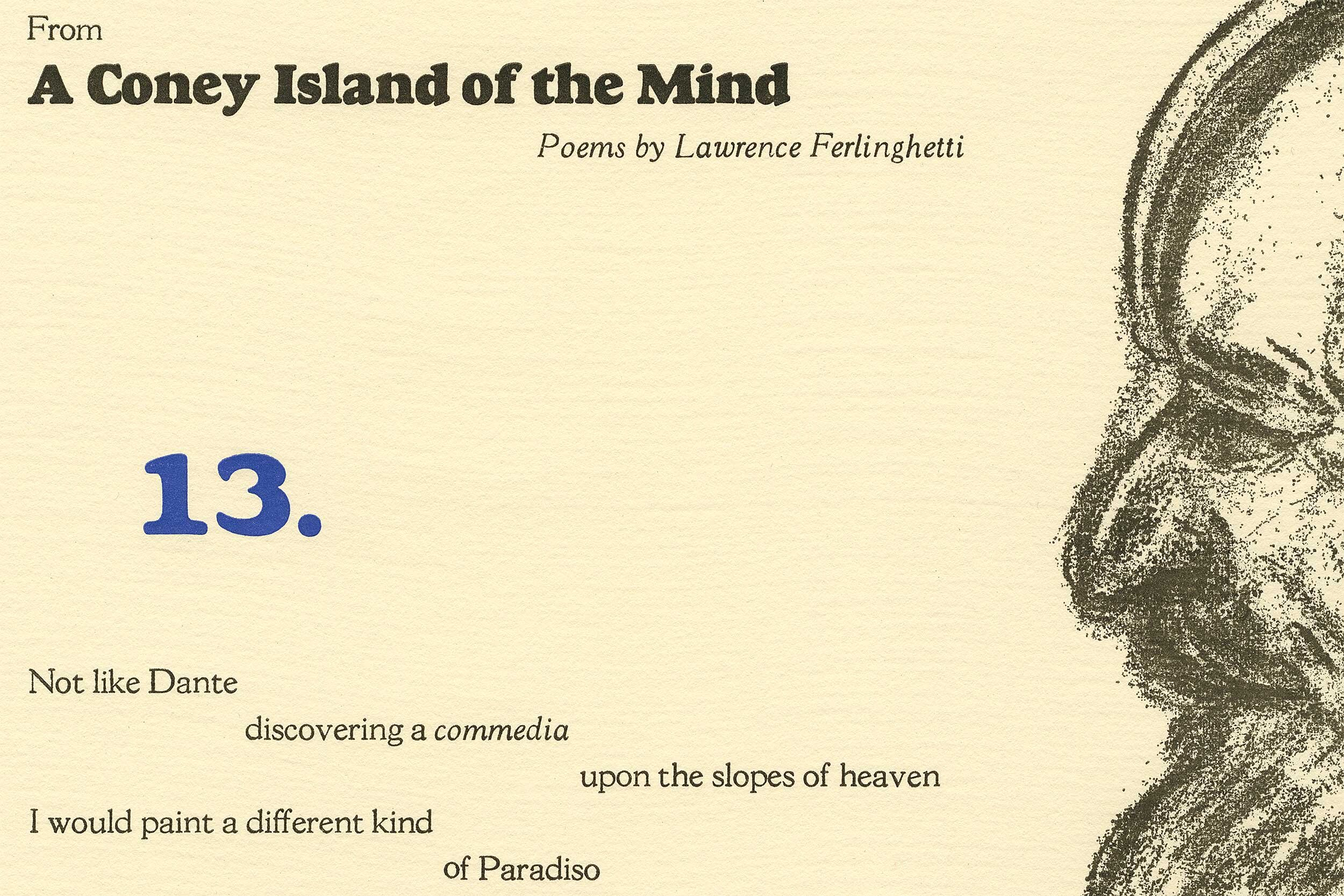 "Detail, ""A Coney Island of the Mind"" broadside"