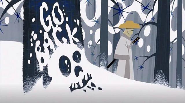 Another BIG inspiration! The beautiful «Samurai Jack» series, directed by the legendary Genndy Tartakovsky! Truly a masterpiece :) #samuraijack #genndytartakovsky