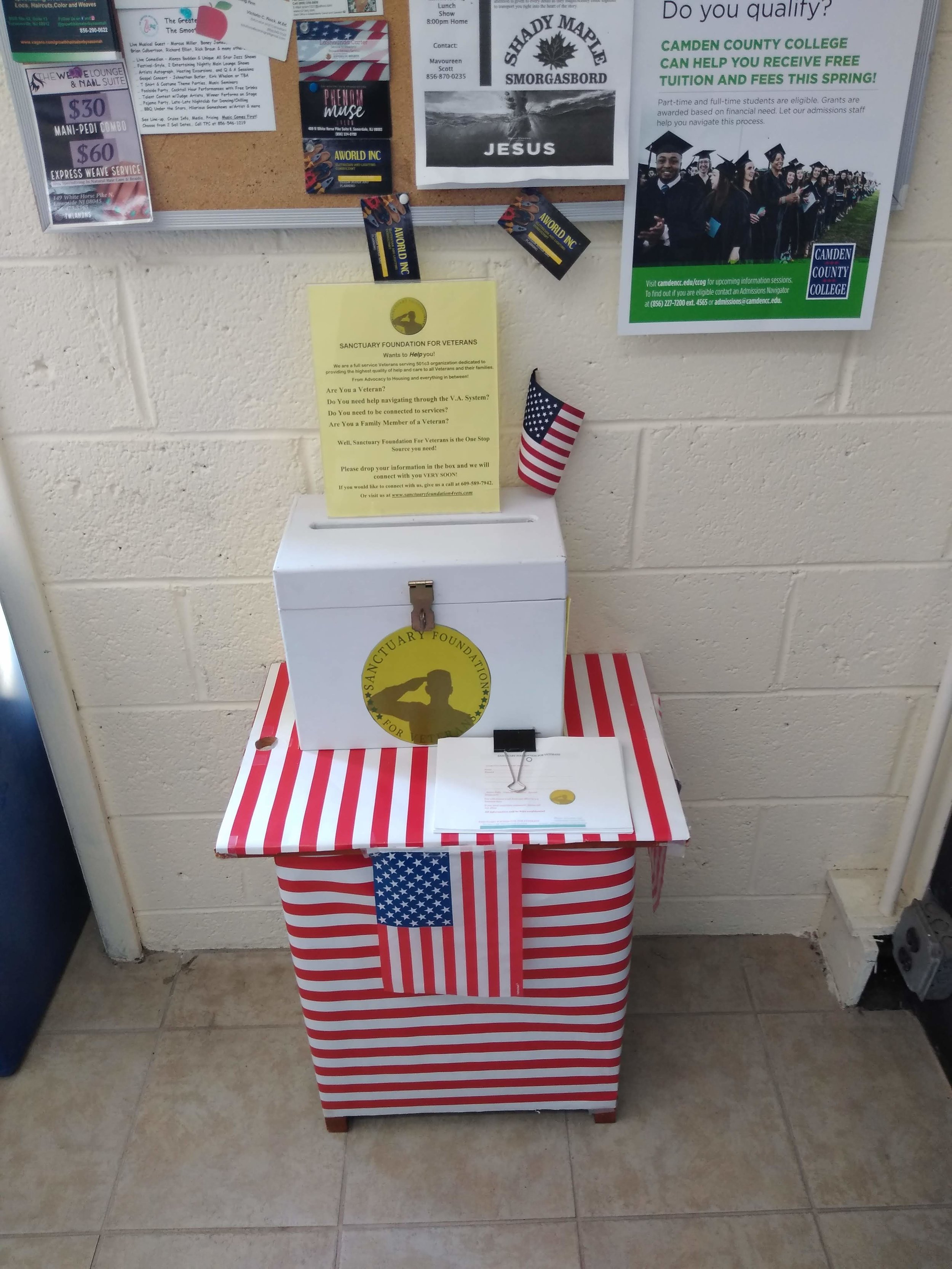 Sanctuary Foundation Connections Box Placed in Lawnside, NJ Post Office -