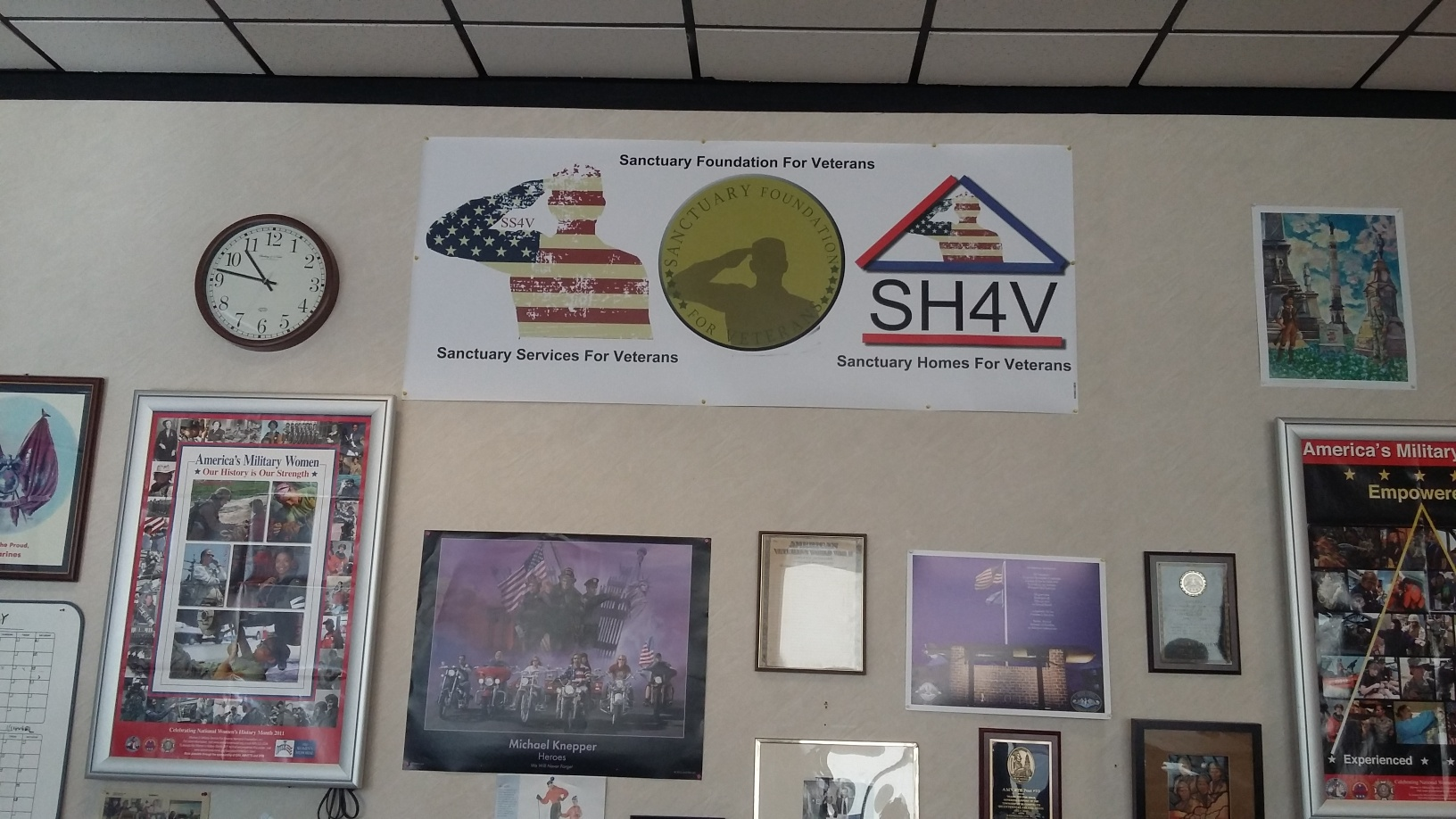 SANCTUARY'S BANNER AT THE OFFICE