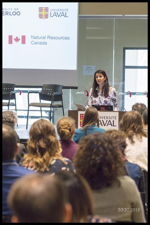 Directrice de la Bibliothèque. Loubna Ghaouti, introducing BRIC participants to the Université Laval. Merci pour votre aide!