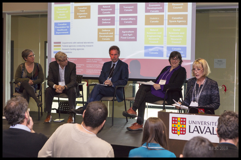 From the panel:  Bibliometrics: who cares?  organized by Deirdre Moore and including Stéphane Mercure, from the Canadian Foundation for Innovation, Kevin Fitzgibbons, NSERC, Susan Morris, NSERC & SSHRC, and Catherine Ste-Marie, Federal S&T Infrastructure Initiative (FSTII)