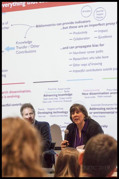 Susan Morris from the panel:   Bibliometrics: Who Cares?