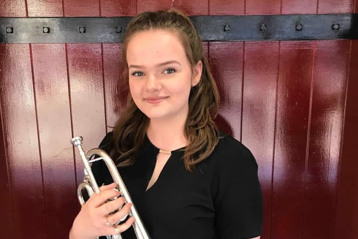 Josie began playing the cornet aged five and progressed through the ranks of her localtraining band and senior band before being appointed Principal Cornet of the Enderby band at sixteen. During her tenure; Enderby won the Shirebrook andWychavon entertainment competitions, as well as qualifying for the first sectional nationalfinals in 2018. She moved to Cardiff in September 2018 to study cornet at the Royal WelshCollege of Music and Drama and, as of February 2019, joined the Flowers Band to sit next to her auntie,Sheila Allen, on Second Cornet. - Josie AllenSecond cornet