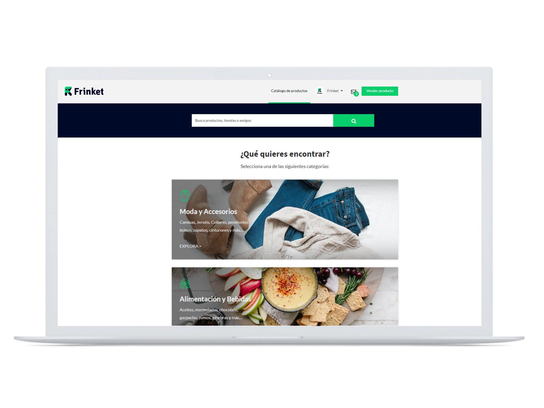 """Marketplace. - Frinket es un espacio digital donde se reúnen las tiendas y marcas españolas del momento. Startups & Emprendedores Y Empresas """"Jóvenes"""" ponen a tu alcance todo tipo de productos."""