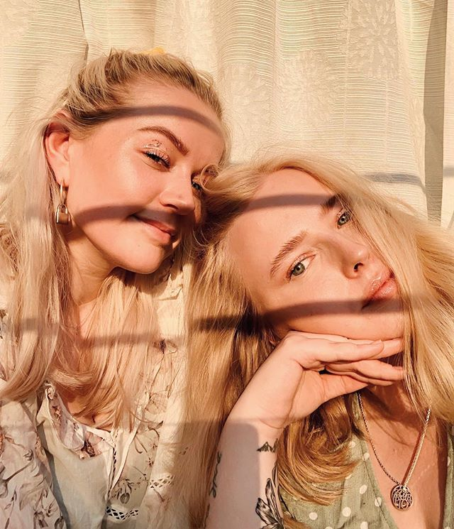 We saw the sunset and instantly put @glossier glitter on to see if we could catch a vibe