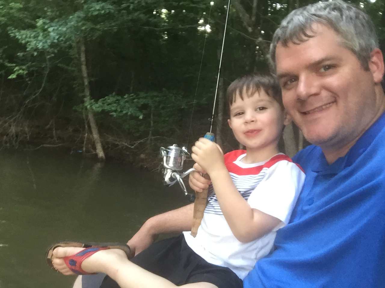 Making USA memories - Fishing with G!