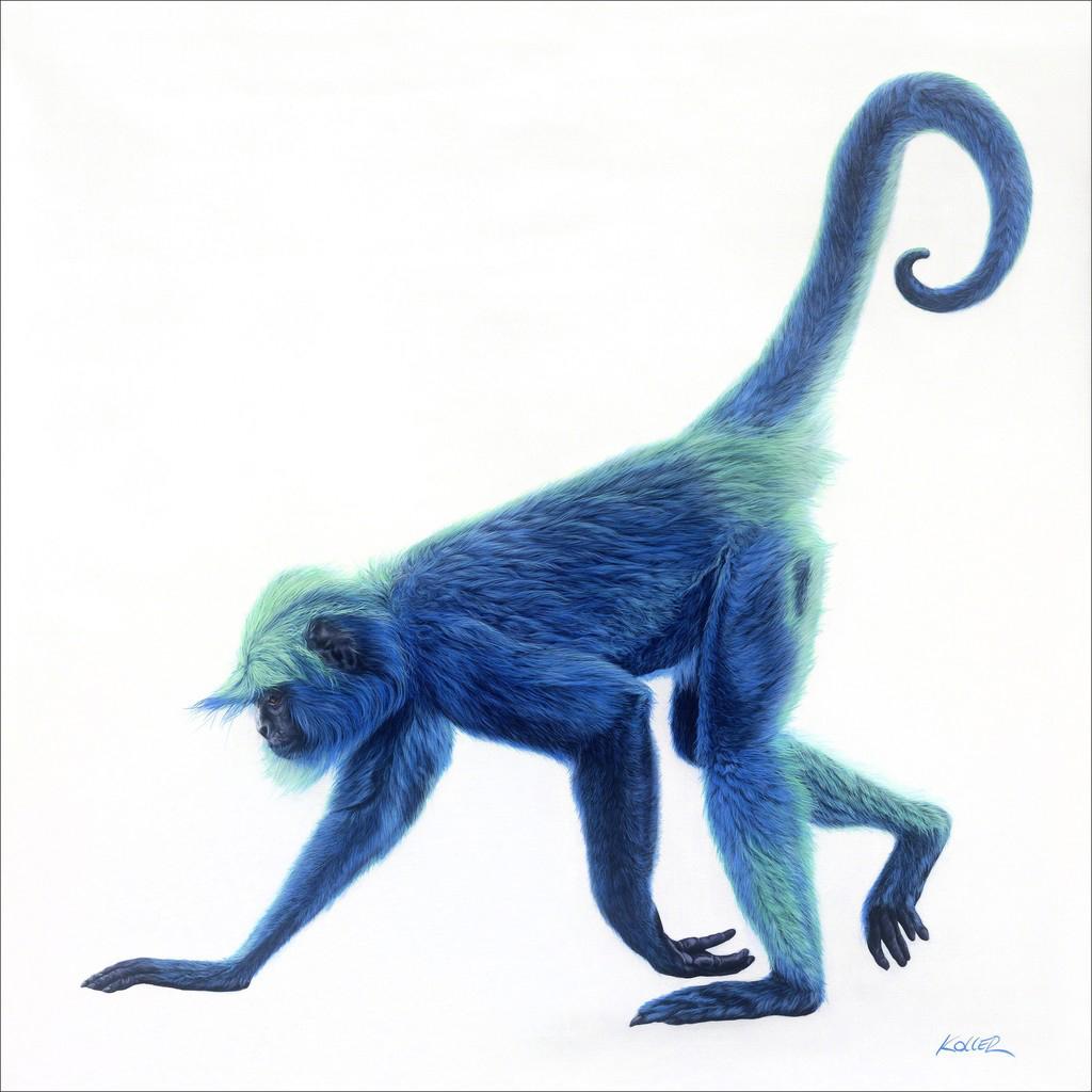 Helmut Koller, Blue Monkey on White