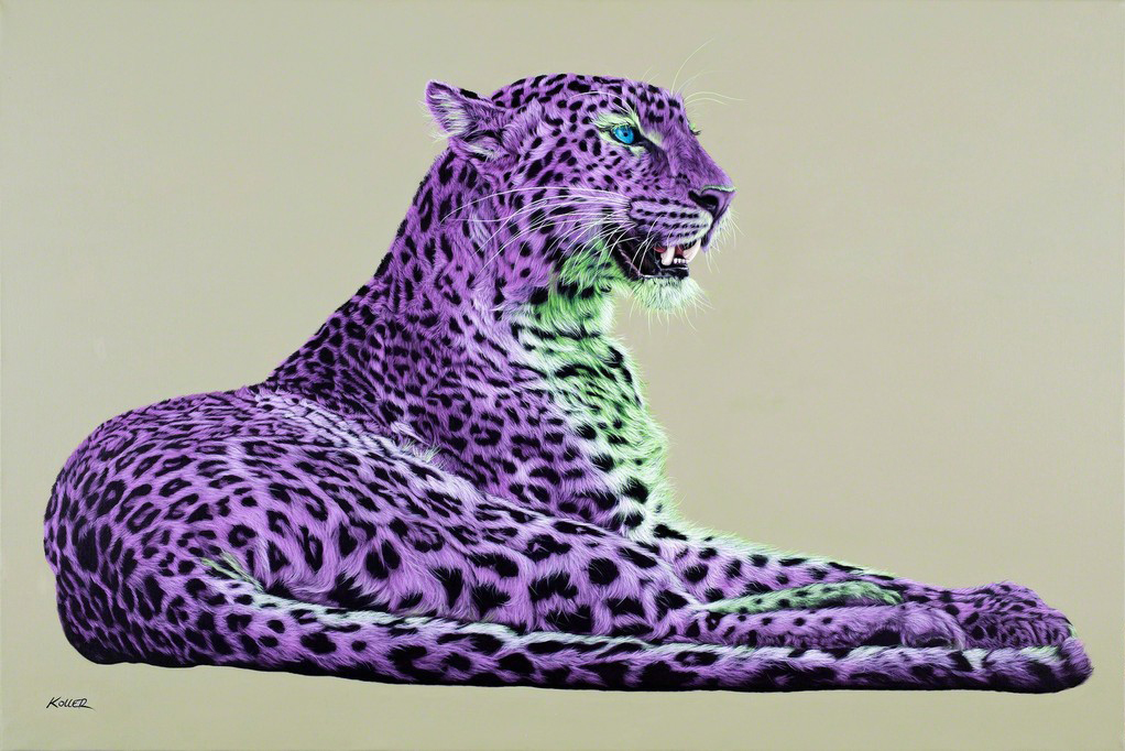 Helmut Koller, Leopard In Magenta and Green