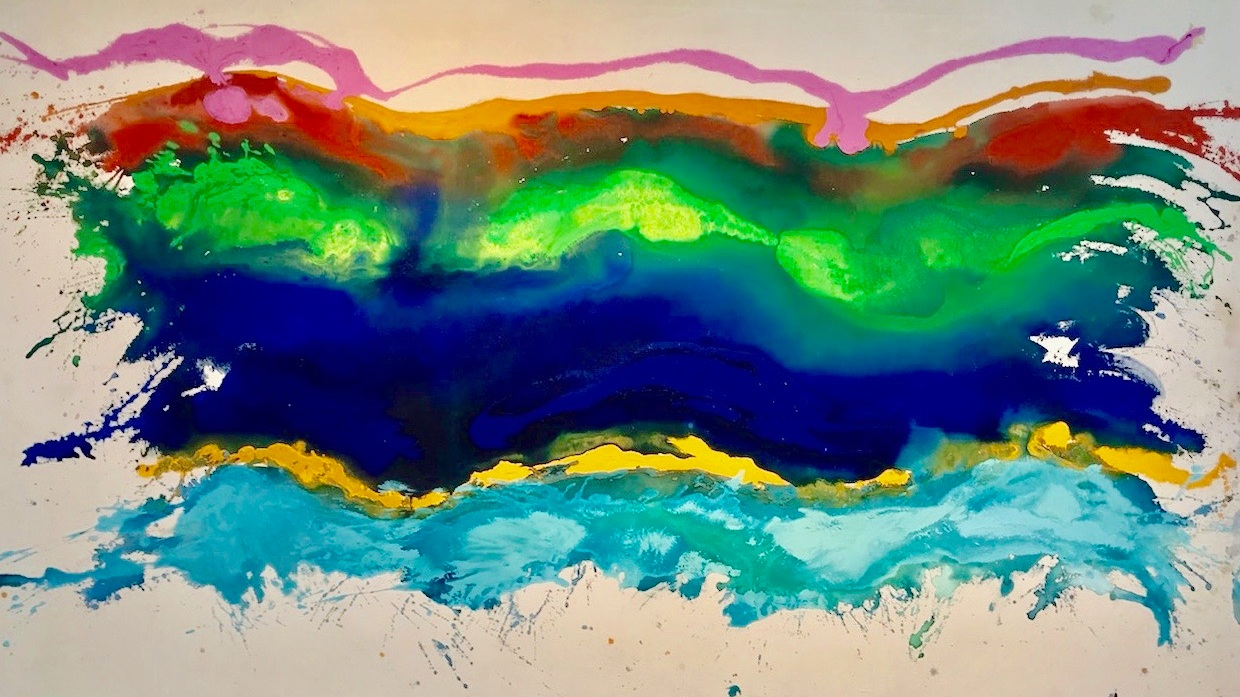 Pat Lipsky,  White Space,  1969, Acrylic on Canvas, 70 x 109 inches