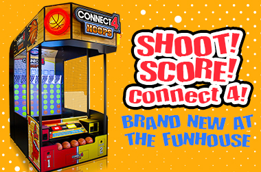 Have some fun in Webster, Texas with Connect 4 Hoops Arcade Game!