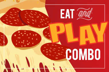 Dine and play for less with Putt-Putt FunHouse's Eat and Play Combo.