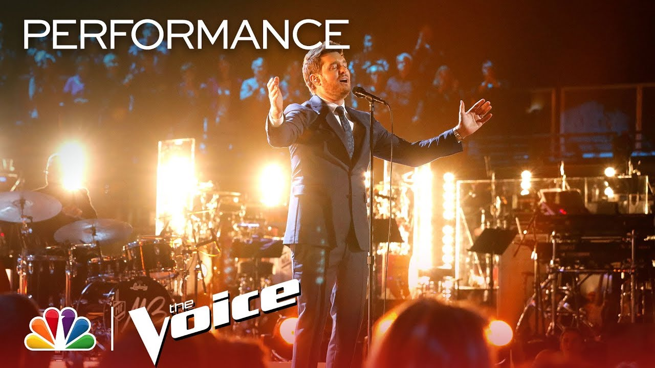 "Michael Bublé live performance on ""the voice"" (conductor)"