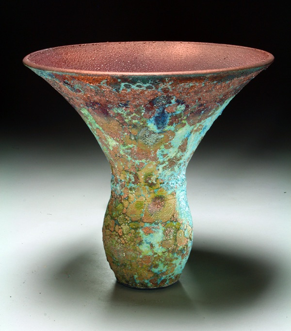 Shimmering Sea Flaired Vase