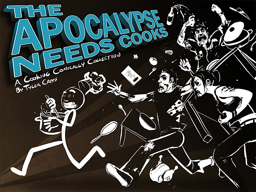 Cover concept for the Cooking Comically Cookbook