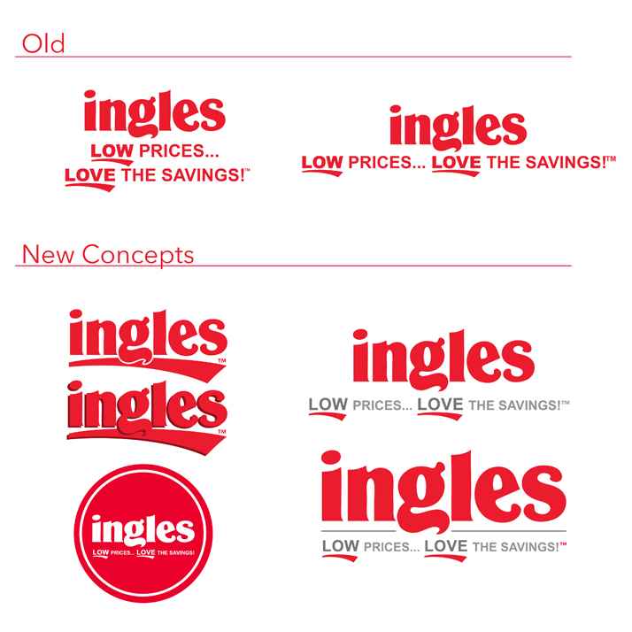 Logo treatments for Ingles Markets