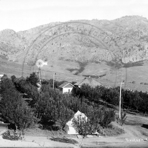 Orchard at Colorado Chautauqua in Boulder, circa 1907.  Photo credit: Boulder Historical Society
