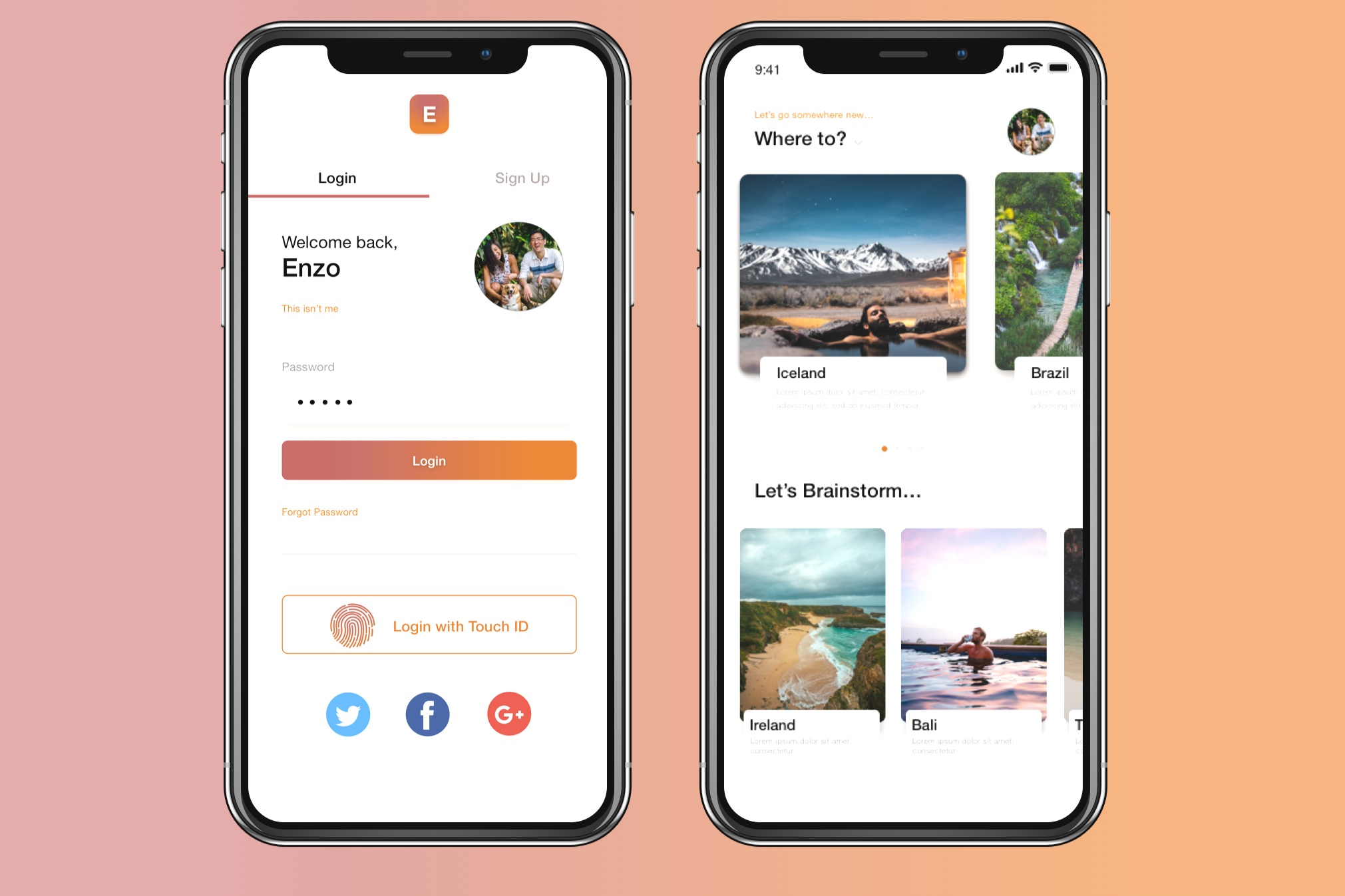 Designing an ethical travel solution into a mobile app
