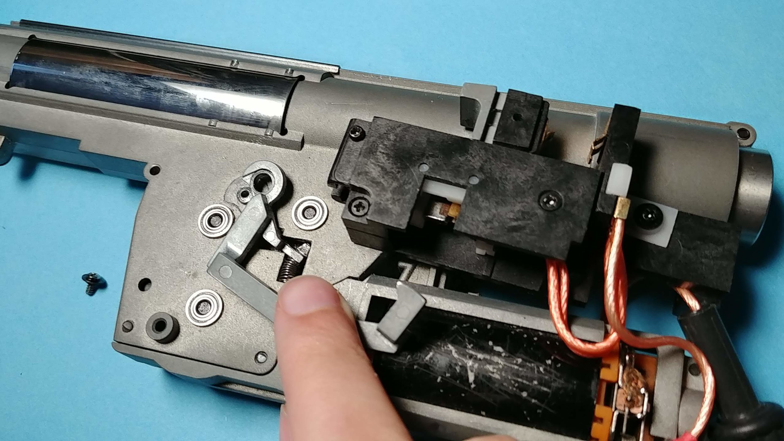 You may need to remove the cut off lever to get the trigger unit off