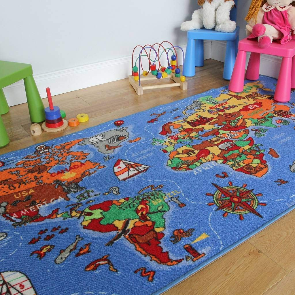 Large Map Rug -