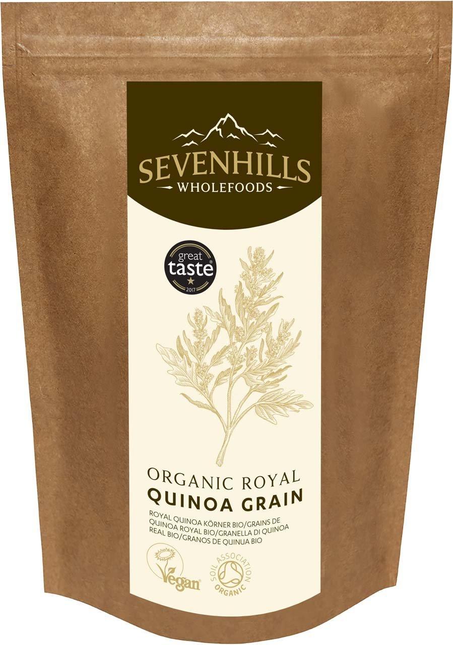 Sevenhills Wholefoods Organic Raw Royal Quinoa Grain -