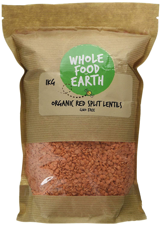 Wholefood Earth Organic Red Split Lentils -