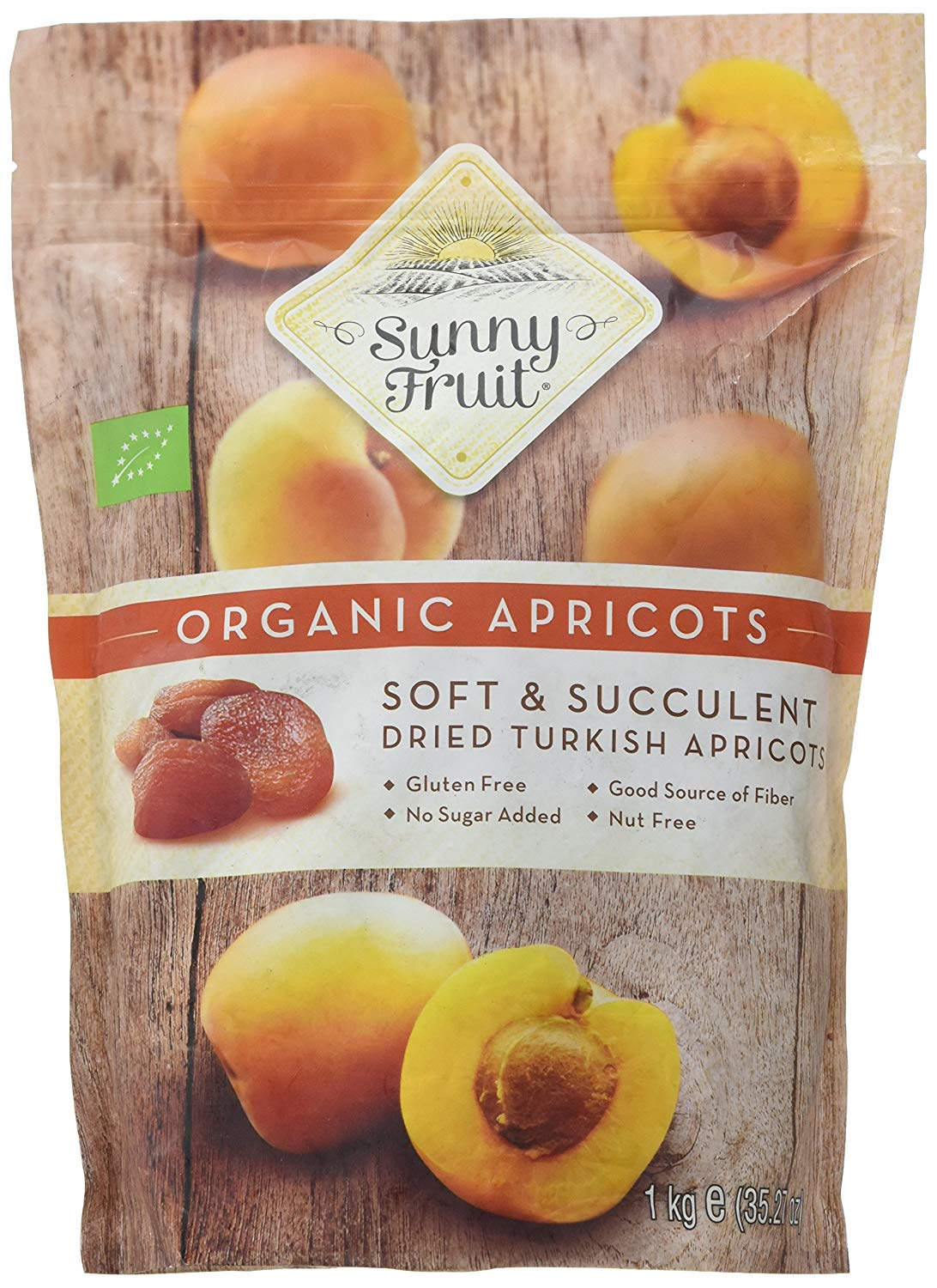 Organic Apricots Soft and Succulent by Sunny Fruit -